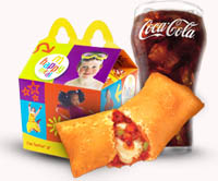 mcdonald s veg pizza happy meal veg pizza  coke toyMcdonalds Pizza Happy Meal
